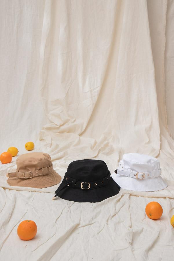 可調式金屬釦遮陽漁夫帽